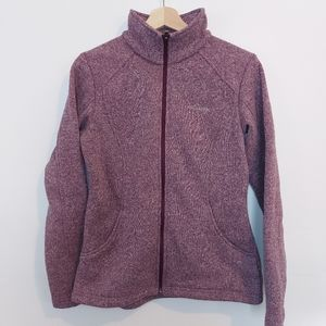Columbia Full Zip Fleece Jacket Heathered Purple